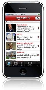 application iphone lepoint.fr