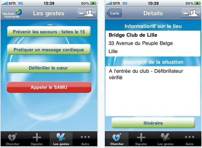 comment marche application sante