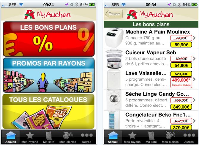 application iphone my auchan les catalogues de promotion sur mobile iphone killer. Black Bedroom Furniture Sets. Home Design Ideas