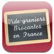 appli iphone vide greniers brocantes