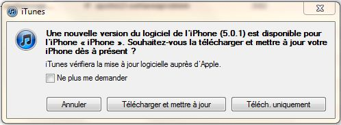 mise a jour apple ios 5.0.1 iphone ipad ipod 2