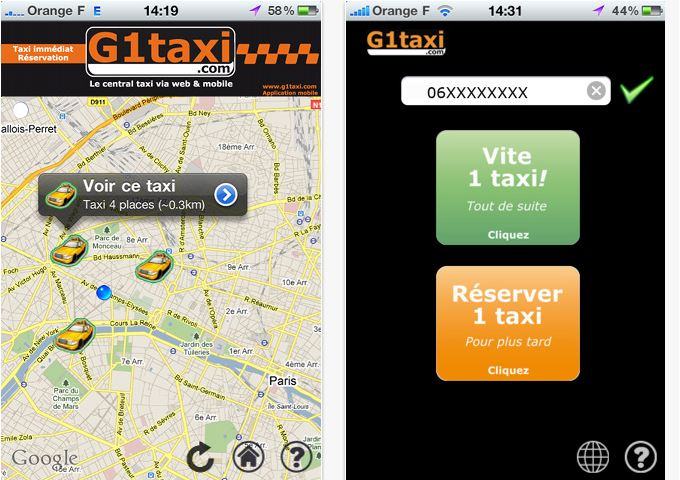 g1taxi la compagnie de taxis pour r server l 39 avance un taxi et c 39 est gratuit iphone killer. Black Bedroom Furniture Sets. Home Design Ideas