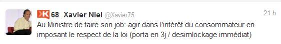 twitter entre Xavier Niel et Eric Besson 1