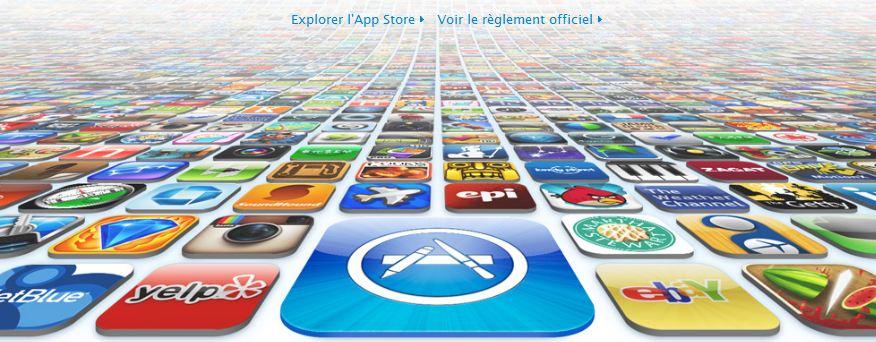 25 milliards de téléchargement application appstore Apple