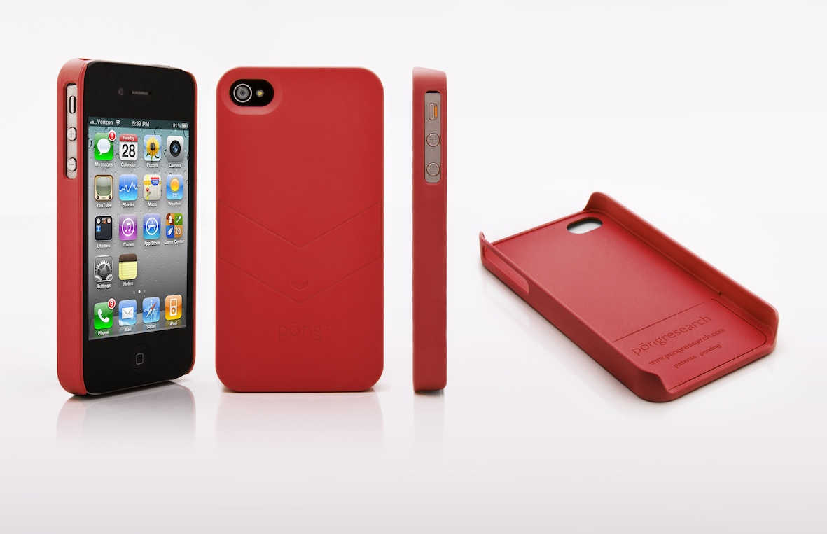 accessoire iPhone4-Etui-Pong Research Rouge