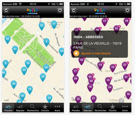 application velib iphone android paris